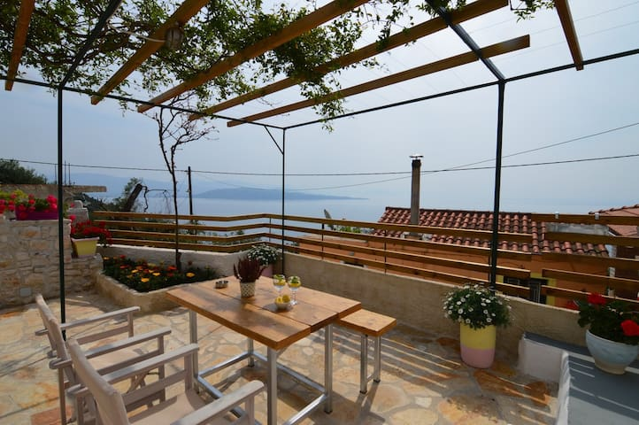 Johanna stone house Corfu