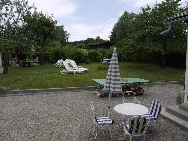 Maison individuelle avec grand jardin
