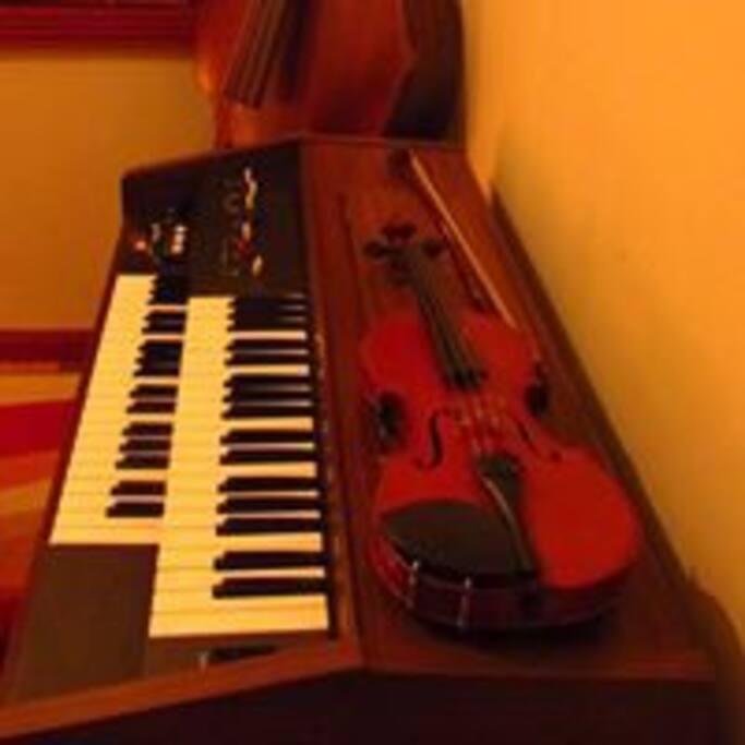 los huéspedes pueden utilizar diversos instrumentos en su estadía.