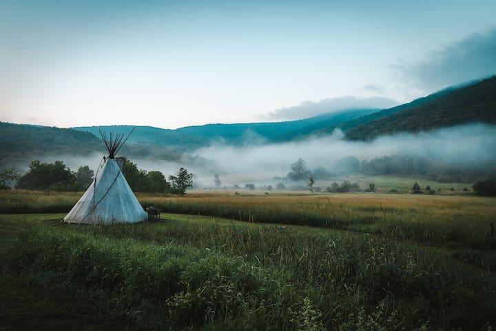Mystic Lodge- Blue Jay Thipi