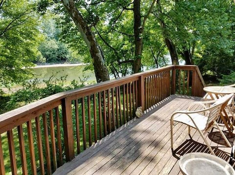 ☼Cottage on the shore of the Little Miami River☼