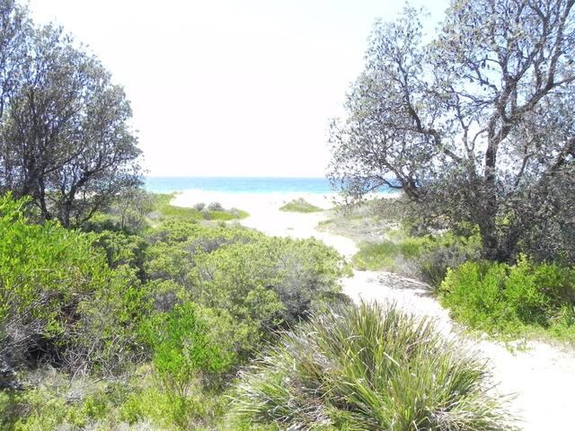 Beautiful sandy beaches nearby