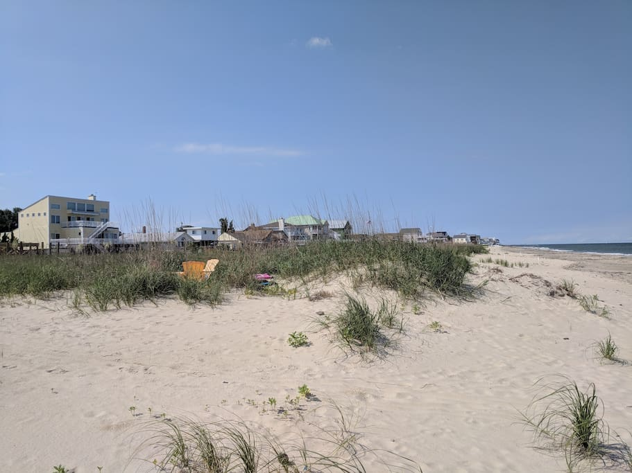 A view of the house from the beach