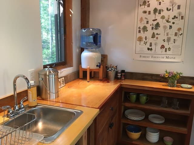 kitchen equipped with basic necessities