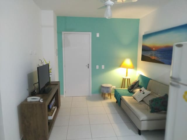 Lindo apartamento a 350m do mar e do paraíso! Novo