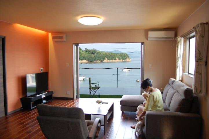 Panoramic ocean view house 海多島美3階新築 - 尾道市 - Villa
