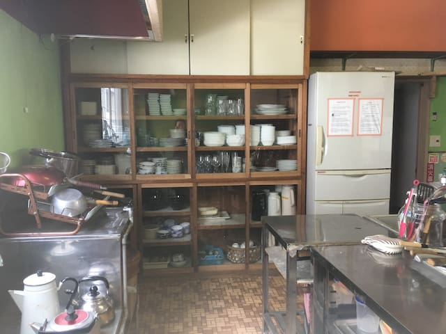 Hotel size kitchen. Please clean up after use it. Thank you!