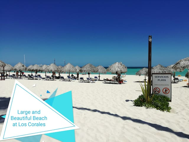 umbrellas and beach chairs available without extra charge