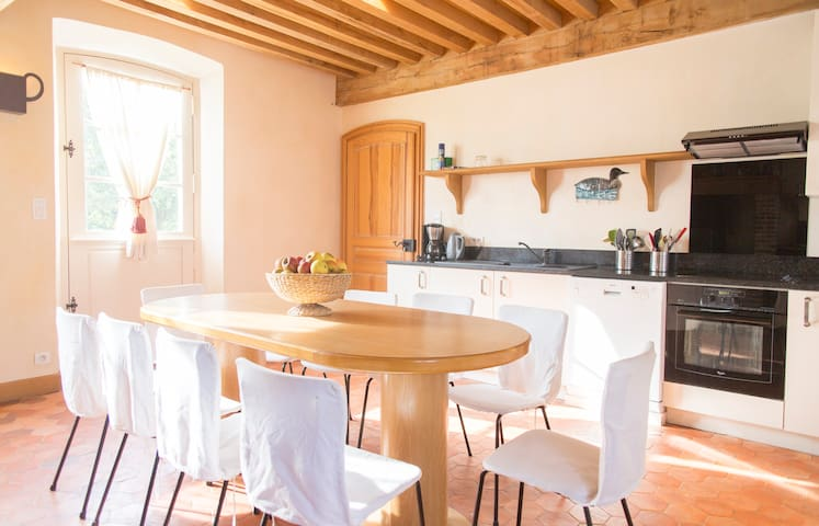 Beautiful brick house Normandie-10p - Morgny-la-Pommeraye - Castle