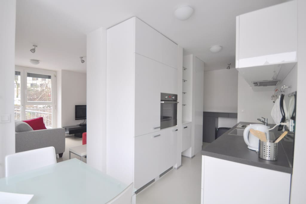 Kitchen and Sitting room