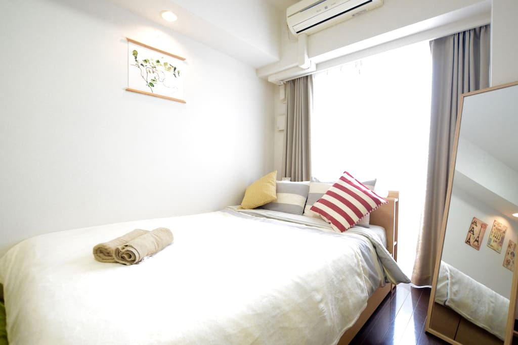 Comfortable Double bed+High quality pillows ( you can feel the unique low rebounding texture)
