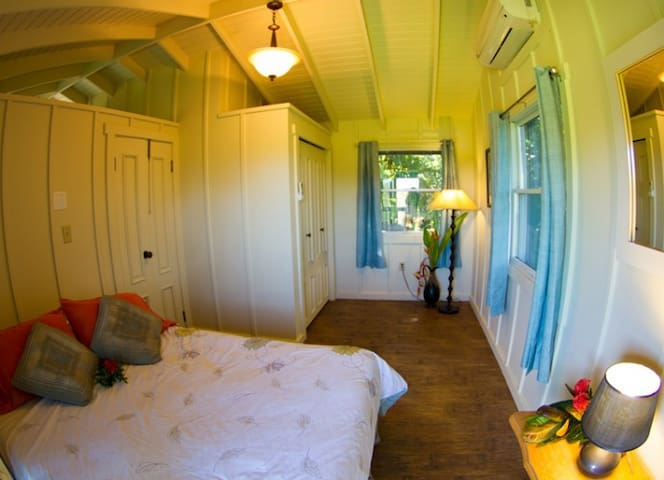 bedroom 2, queen size, clothes closet.  Bright and airy!
