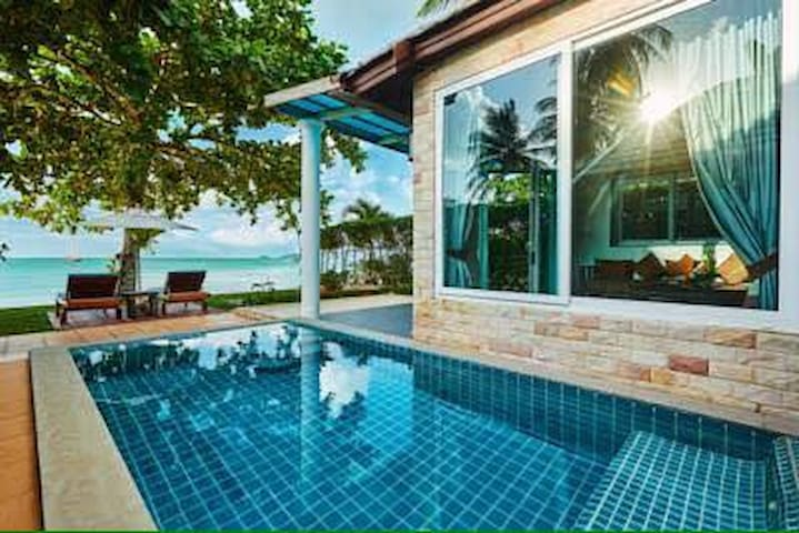1BR Beachfront Villa Lipa Noi - Ko Samui - Casa de camp