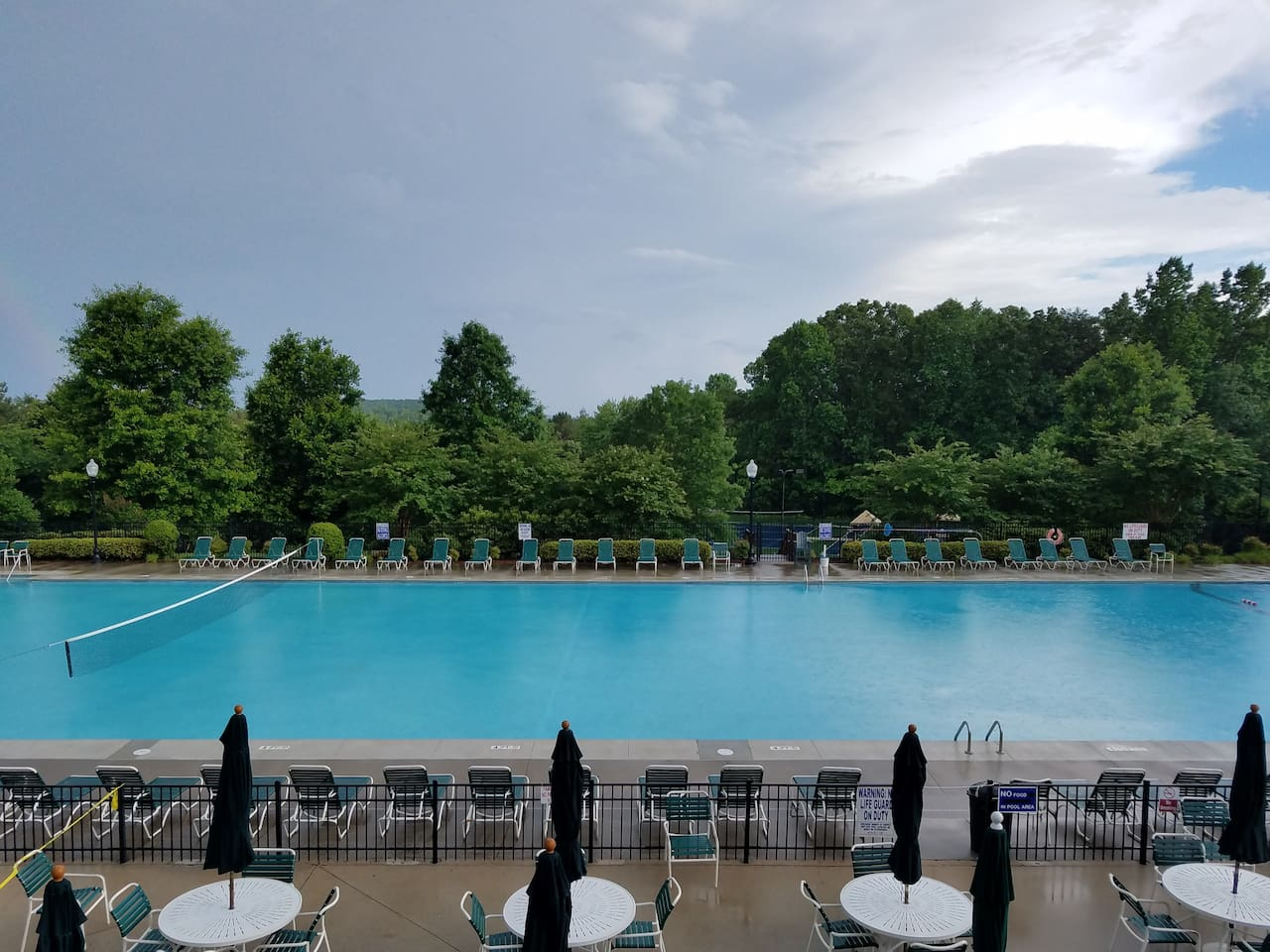 Largest private outdoor pool in South Carolina.  Saltwater pool at lodge