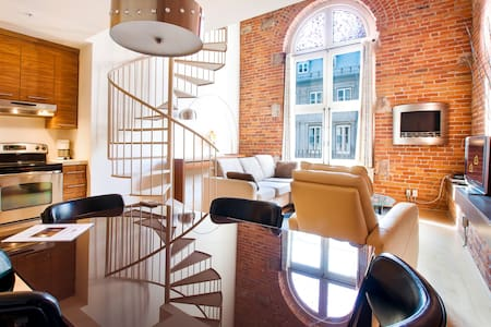 Les Lofts1048 Charming king-bed Loft in Old Québec