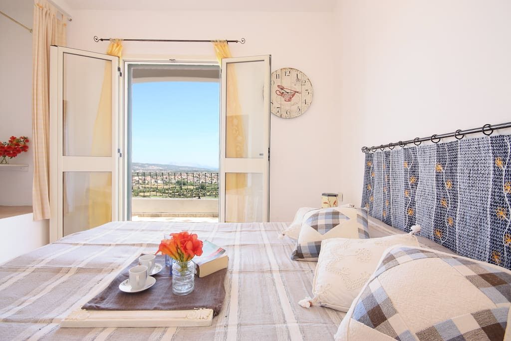 The double room with terrace and a terrific view on the sea