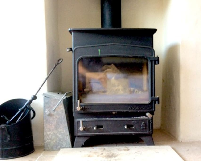 Wood burner for winter nights