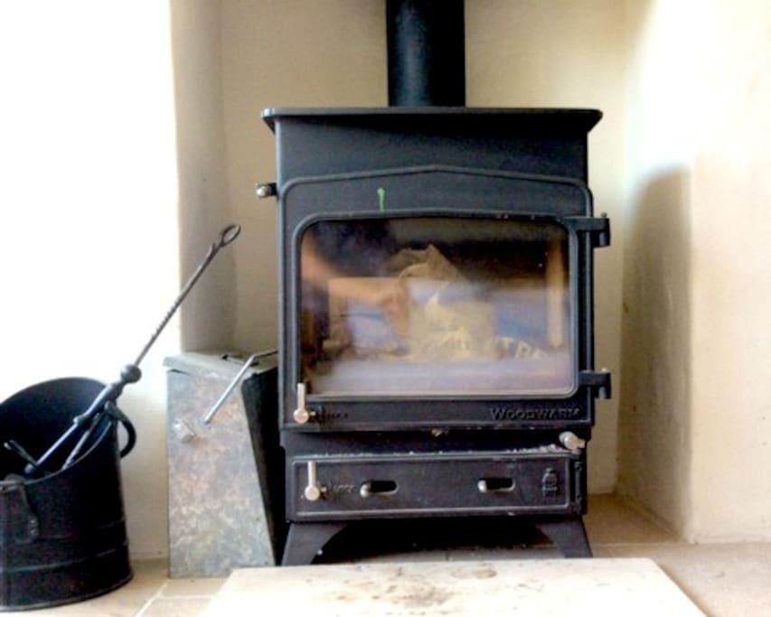 Wood burner for winter nights