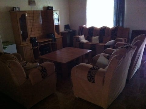 It is a home stay house in a serene environment.