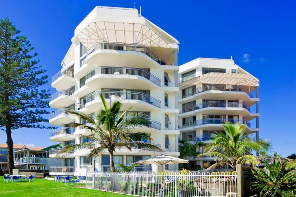 Beachfront of building