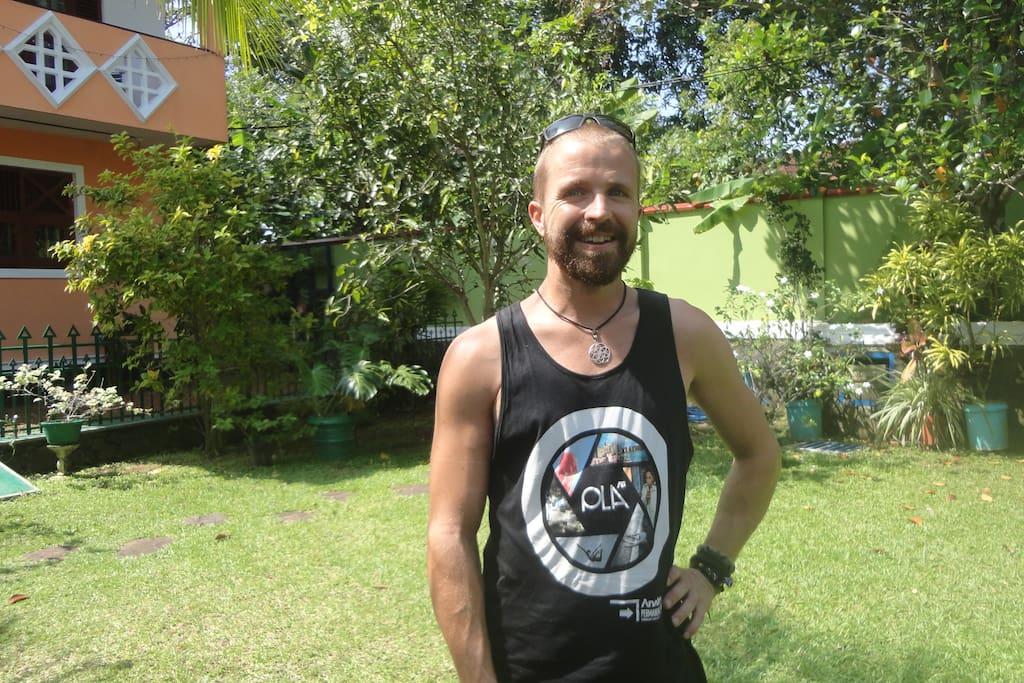 Aaron Van Braam (professional Surfer ) on holiday @ Triangle 40