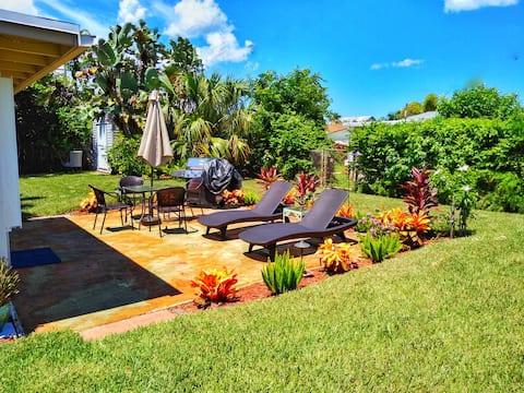 Tropical Mid-Century Oasis Home | Jensen Beach