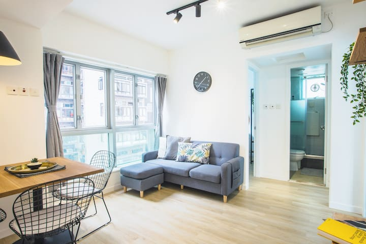 Modern Bedroom in Renovated 3 BR Apartment in SYP