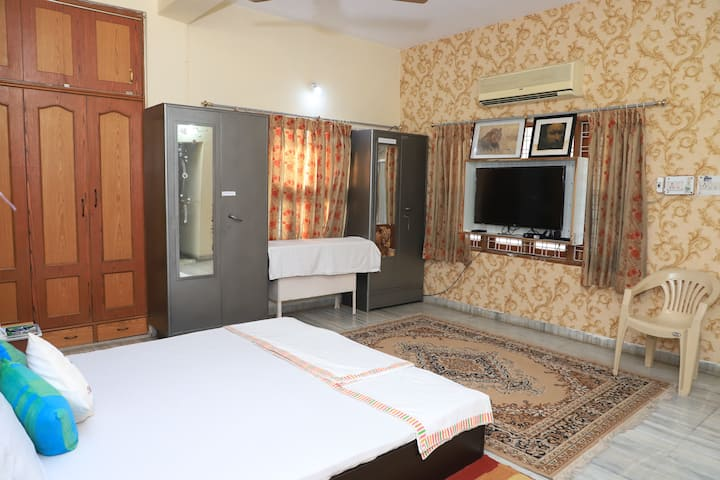 Spacious room with  private terrace & small lawn