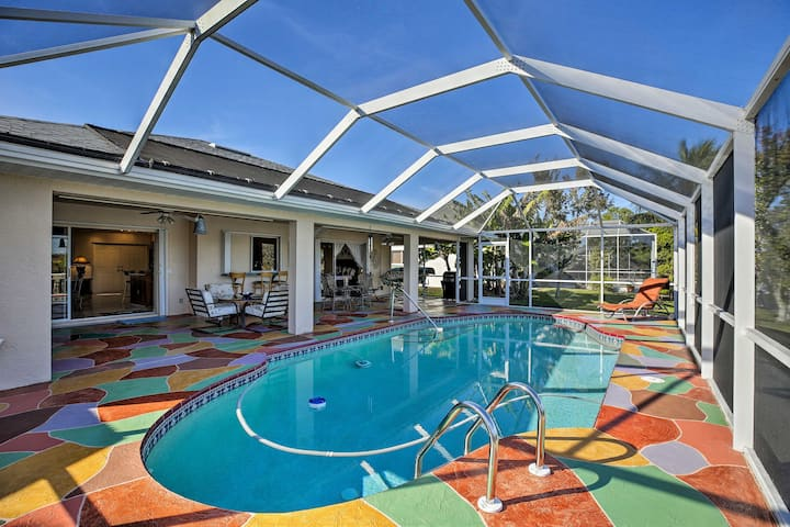 Luxury Cape Coral Home w/ Pool & Canal Views