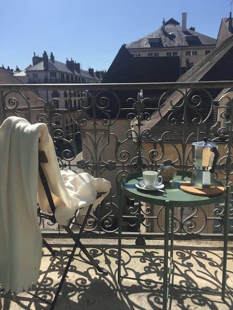 Sobre los tejados de Dijon