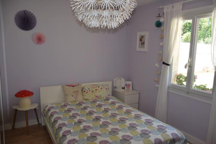 Chambre adulte lit double et lit bébé