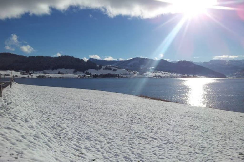 Sihlsee in winter