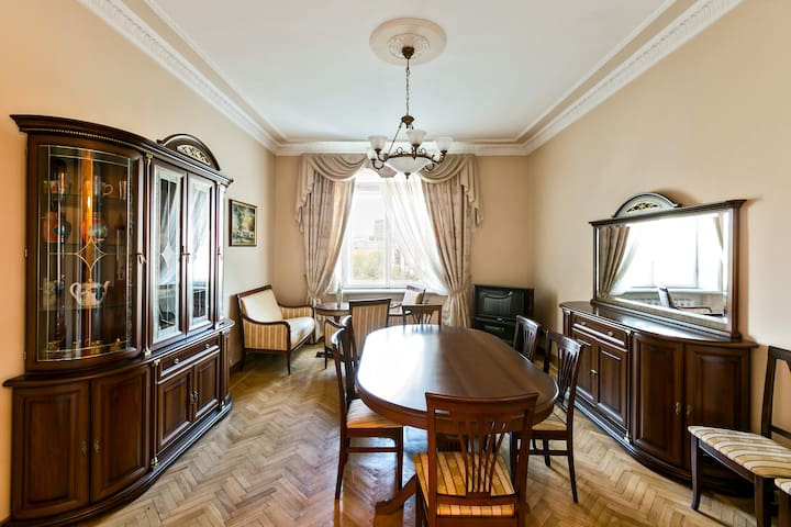 Great Professor's apartment in a famous house.