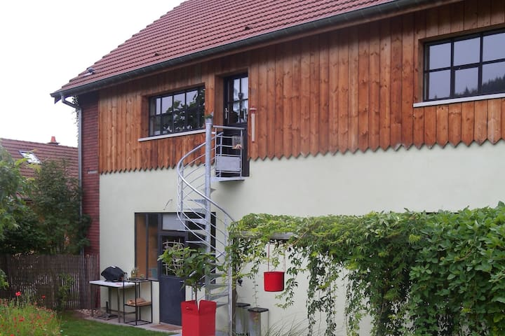 Pittoresca casa vacanze a Saint-Quirin Lotharingen, terrazza