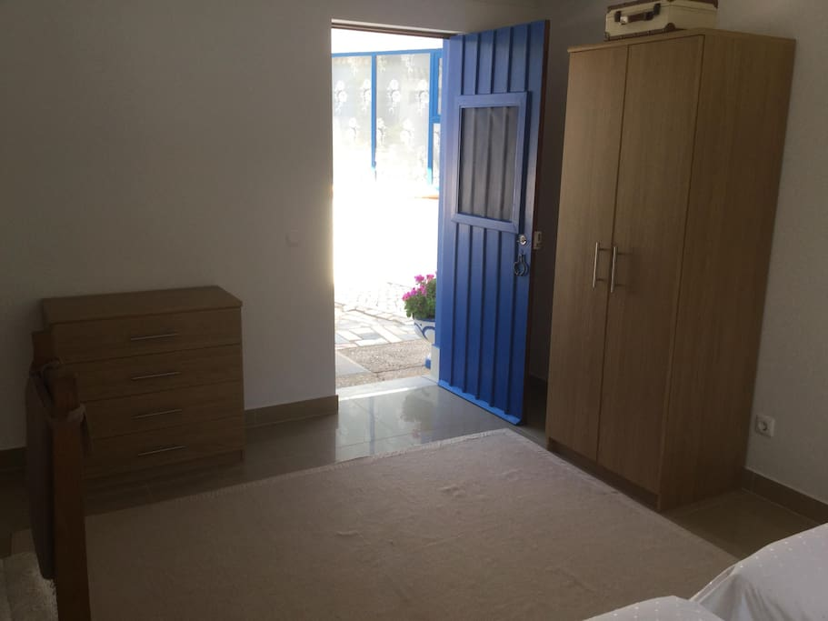 Private entrance to the room