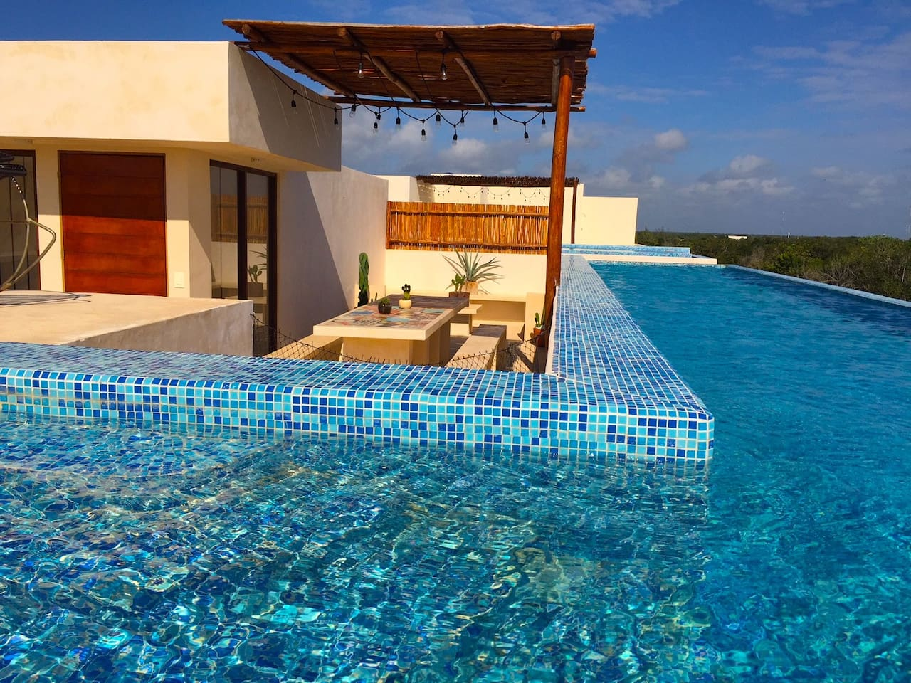 Private roof top swimming pool and terrace