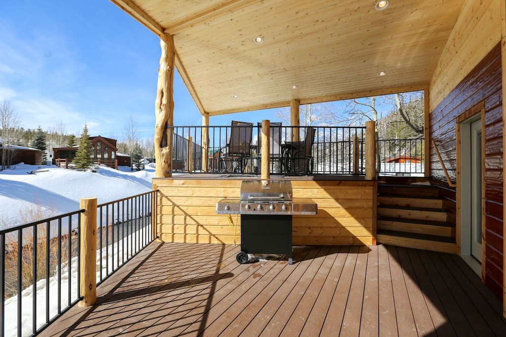 Relax and do some grilling on one of two decks