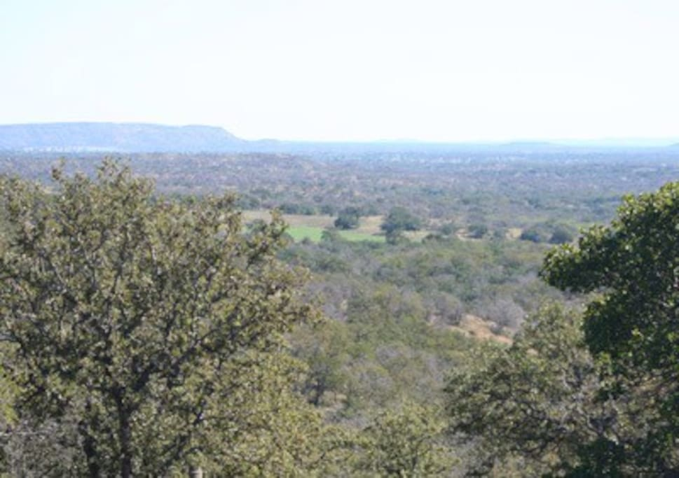 Beautiful view of 30 miles over Oak Wooded Canyon.