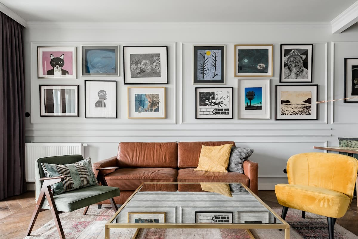 View Local Artwork in a Chic Home in the Jewish Area