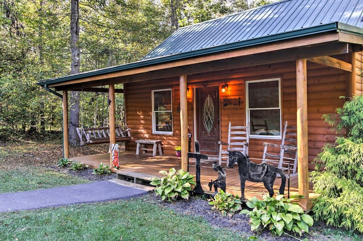 Smoky Mountain Rustic Log Cabin w/Furnished Patio!