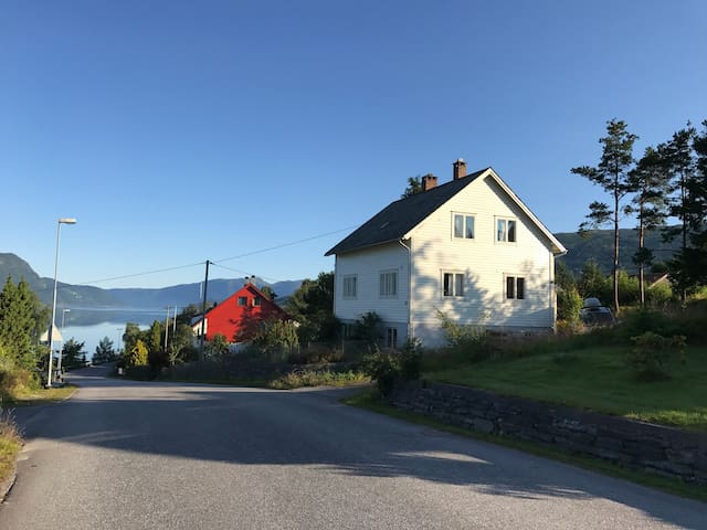 House with a beautiful fjord view