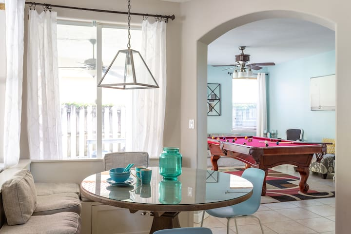 Beautiful breakfast nook. Enjoy a your favorite meal or even a cup of coffee here!