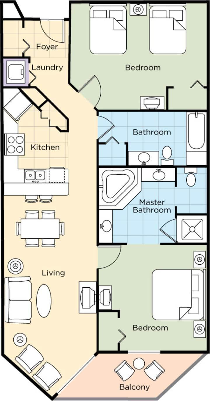 Two Bedroom Deluxe Ocean Front Luxury Condo, Myrtle Beach (A742)