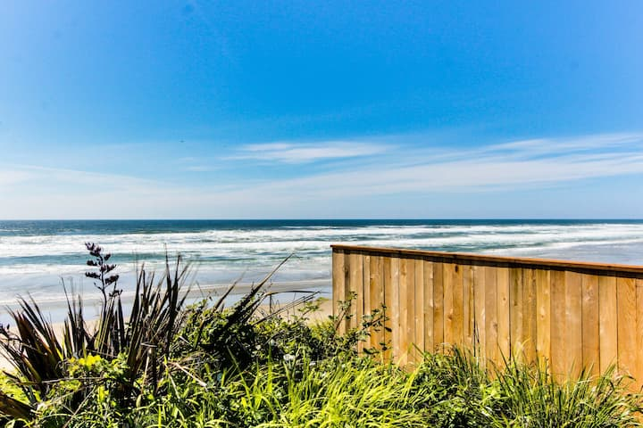 Dog-friendly, oceanfront cottage w/deck, views, and nearby beach access