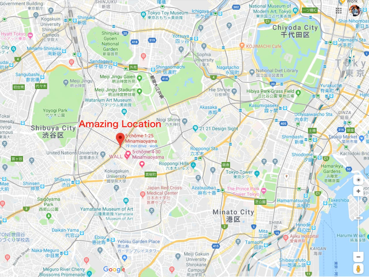 Amazing Location Omotesando Shibuya Harajuku Roppongi