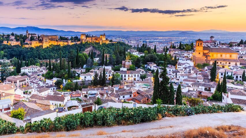 Alhambra 1 habitación privada,tv,wifi, cocina