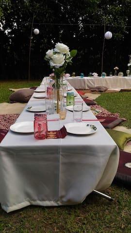 Gathering, Team building, Wedding reception. Endless possibilities.