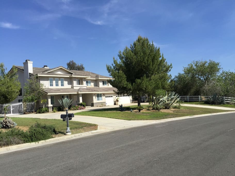Front of the house.  Drive way allows parking for up to five cars and additional parking on streets.