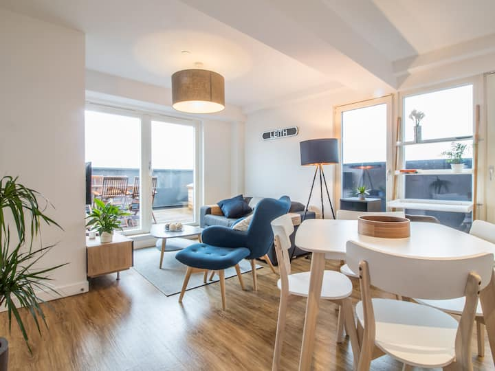 Unique, Stylish Apt, Private Terrace, Leith