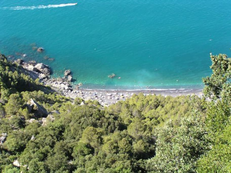 Punta Corvo - reachable on foot by stairs or by boat from Bocca di Magra
